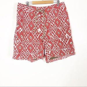 Patagonia Red & White Patterned Swim Trunks